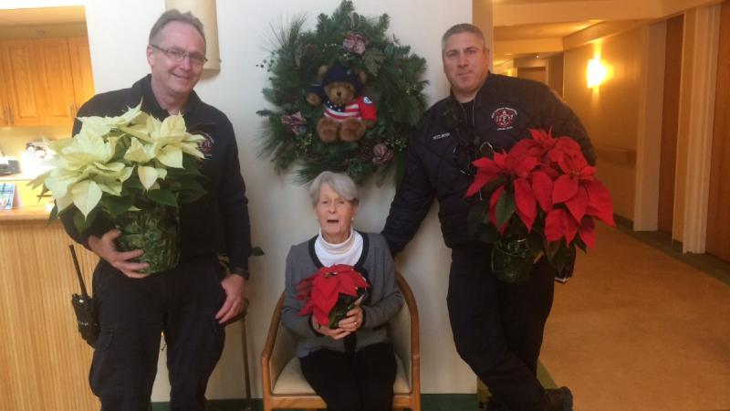 NCFD delivers Poinsettias